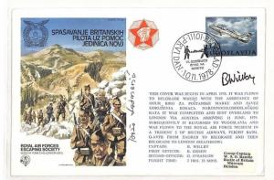 Yugoslavia RAF Escaping Society Signed Cover PTS 1978 AH176