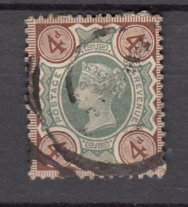 J27522 1887-92 great britain used #116 queen