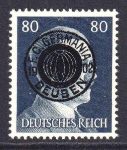 GERMANY 523 F. C. GERMANIA DEUBEN OVERPRINT OG NH U/M F/VF BEAUTIFUL GUM