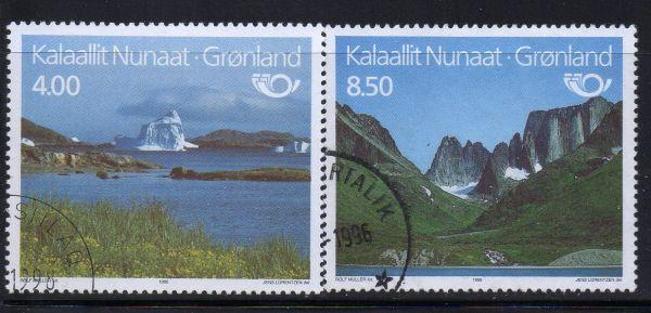 Greenland Sc 289-0 1995 Tourism stamp set used