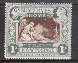 New South Wales #B1 Mint Fine Lightly Hinged