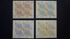50th anniversary of EUROPA stamps - Fiji - 4x set in 4 sheets perforated ** MNH