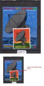 Singapore SG 160-161a Some Split Perfs, See Picture, MNH (9dis)