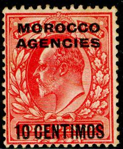 MOROCCO AGENCIES SG113, 10c on 1d scarlet, M MINT. Cat £21.