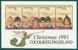 Cocos 1991 Christmas, MS MNH 248,SGMS251