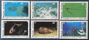 Wallis and Futuna Islands 264-69 MNH Marine Life (SCV $9.95)