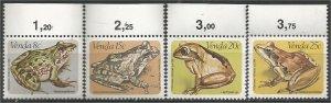 VENDA, 1982, MNH Complete set, Frogs Scott 96-99