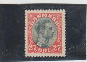 Denmark  Scott#  110  MH  (1918 Christian X)