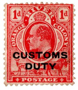 (I.B) Orange River Colony Revenue : Customs Duty 1d