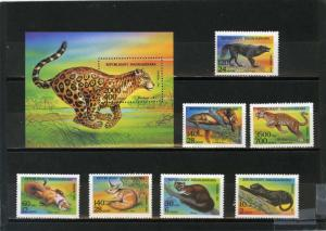 MADAGASCAR 1994 Sc#1182-1189 AFRICAN ANIMALS SET OF 7 STAMPS & S/S MNH