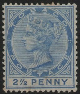 TOBAGO-1882-84 2½d Ultramarine Sg 16b MOUNTED MINT V40350