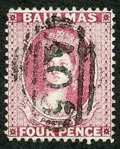 Bahamas SG35 4d Bright Rose Wmk CC Perf 14 Cat 40 pounds