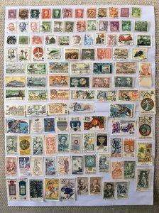 Czechoslovakia 100+ stamps - Lot A