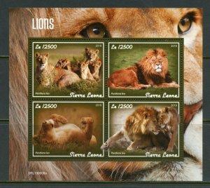 SIERRA LEONE 2019   LIONS  SHEET MINT NEVER HINGED