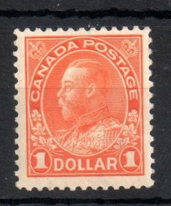 Canada KGV 1923 $1 orange mint MNH unmounted #255 WS13790