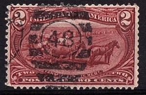 USA 1898 Scott 286 Number Cancel used  $2.50