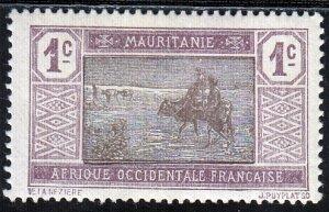 Mauritania, Sc 46, MVLH, 1913, Crossing Desert