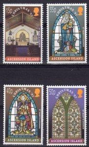 Ascension 1997 Sc#688/691 Churches-Christmas 1997 Set (4) MNH