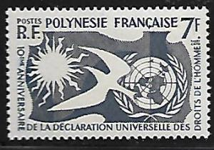 FRENCH POLYNESIA 191 MNH HUMAN RIGHTS ISSUE