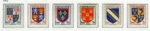 FRANCE; 1953 early Coat of Arms issue fine Mint hinged SET