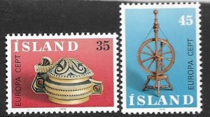 Iceland 490-91  1976    set 2  VF  NH