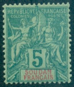 French Sudan #6  Mint  Scott $9.50   Thins