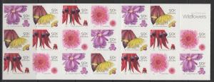 AUSTRALIA SGSB187(2534d) 2005 WILDFLOWERS $10 BOOKLET MNH
