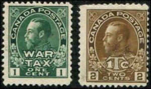 Canada SC# MR1-2 War Tax 1c 2c MNG