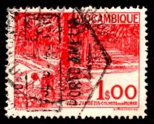 Mozambique 1948-49 Kopra Harvest, Baixa Trees 60c Scott.313 Used (#1)