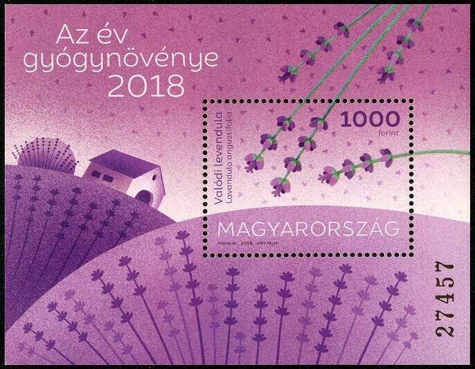 HERRICKSTAMP NEW ISSUES HUNGARY Sc.# 4472 English Lavender S/S
