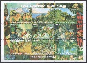 EC265 1999 SENEGAL PAUL CEZANNE ART PAINTINGS 1KB MNH