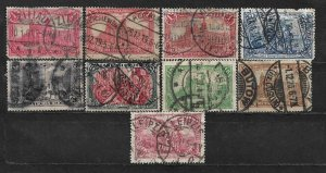 COLLECTION LOT OF 9 GERMANY 1900+ STAMPS CLEARANCE UNCHECKED CV+ $26