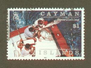 Cayman Islands 645 used CV $3.75