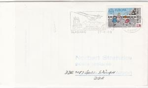 France 1989 Pyrenees Airport Plane Slogan Cancel Europa Stamp Cover Ref 31636