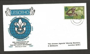 1967 Lesotho Boy Scouts 60th anniversary FDC
