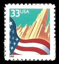 PCBstamps   US #3278 33c Flag & City, black, MNH, (12)