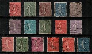 France Scott 138-54 Used (missing #144) - Catalog Value $33.00