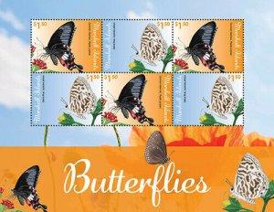 2020/11-MARSHALL ISLANDS - BUTTERFLIES         6V  complet set    MNH ** T