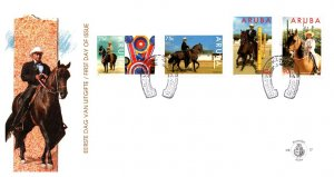 Aruba, Worldwide First Day Cover, Sports, Horses