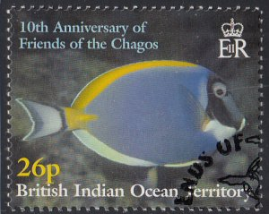 BIOT 2001 used Sc #250 26p Reef fish Friends of the Chagos 10th ann