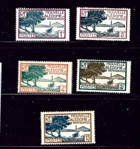 New Caledonia 136/137B-139/141 MH 1928 issue