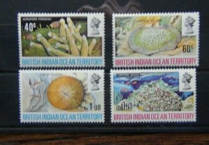 British Indian Ocean Territory 1972 Coral set MNH