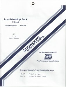 SHOWGARD TRANS-MISSISSIPPI PACK (11) BLACK MOUNTS RETAIL PRICE $5.75