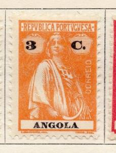 Angola 1922 Early Ceres  Issue Fine Mint Hinged 3c. 139706