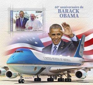 TOGO - 2021 - Barack Obama - Perf Souv Sheet - Mint Never Hinged