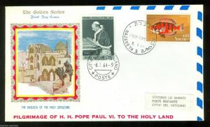 VATICAN CITY 1963 POPE PAUL VI VISIT TO ISRAEL DUAL SPECIAL EVENT COVER