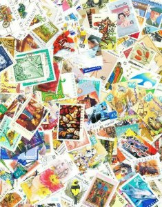 500 AUSTRALIA USED STAMPS OFF PAPER - ALL DIFFERENT - GOOD SELECTION