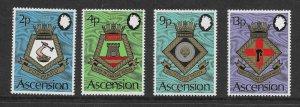 Ascension  166 - 169 (SG 166/9) Militaria - MNH - VF - CV$13.40