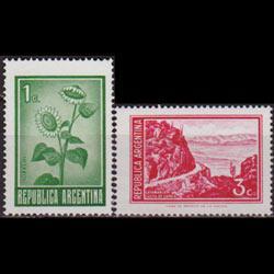 ARGENTINA 1971 - Scott# 923-4 Sunflower etc. 1-3c NH