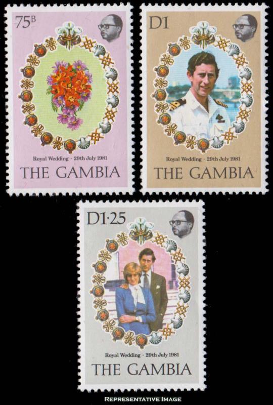 Gambia Scott 426-428 Mint never hinged.
